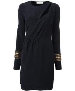 Pierre Balmain | Cut-Out Wrap Dress 38 Silk