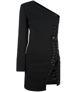 Anthony Vaccarello | One Shoulder Fitted Dress 36 Wool/Acrylic/Cupro