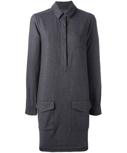 YMC | Pocketed Shirt Dress 8 Virgin Wool/Spandex/Elastane
