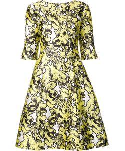 Oscar de la Renta | Abstract Print Dress 6
