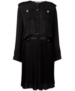 Givenchy | Pleated Skirt Shirt Dress 40 Silk/Wool/Viscose