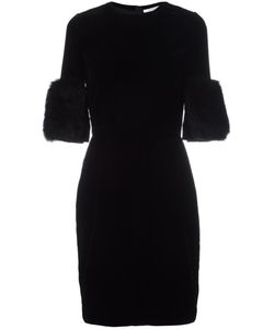 Givenchy | Short Sleeve Velvet Dress 38 Viscose/Silk/Possum Fur