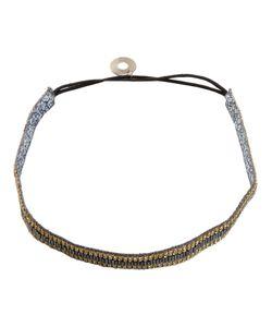 SERPUI | Embellished Headband Leather/Crystal