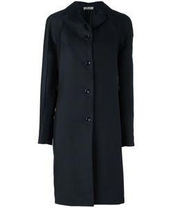 Nina Ricci | Pleated Sleeve Coat 36 Silk/Wool