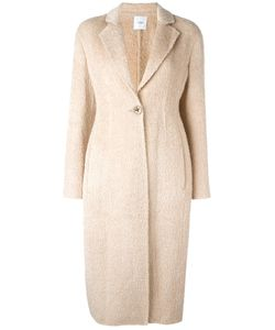 Agnona | Single Button Mid Coat 46 Alpaca/Wool/Cupro