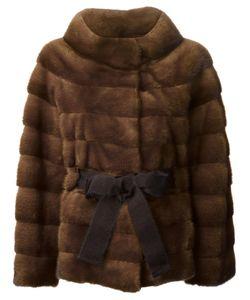 Liska | Belted Coat Large Mink Fur