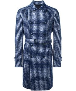 HEVO | Houndstooth Belted Coat 46 Virgin Wool/Alpaca/Mohair/Viscose