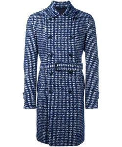 HEVO | Houndstooth Belted Coat 46 Virgin Wool/Alpaca/Mohair/Viscose