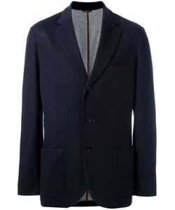 Loro Piana | Classic Blazer 58 Polyamide/Polyester/Cashmere/Goat Suede