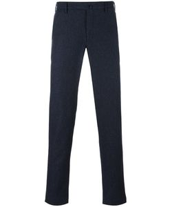 Incotex | Tapered Straight Trousers 46 Wool/Cotton/Viscose/Polyamide