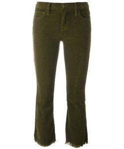 Current/Elliott | The Kick Corduroy Cropped Jeans 25 Cotton/Spandex/Elastane