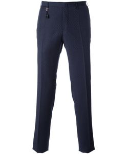 Incotex | Patterned Slim Fit Trousers 52 Wool