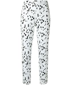 ANDREA MARQUES | Printed Slim Fit Trousers 38 Cotton/Spandex/Elastane