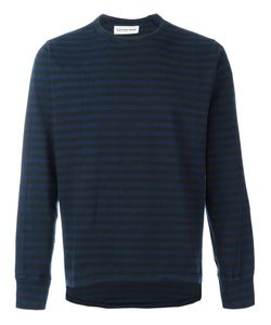 UNIVERSAL WORKS | Striped Sweatshirt Large Cotton