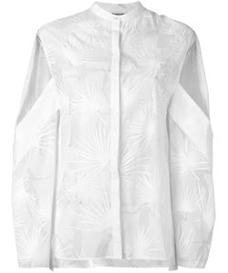 Chalayan | Dancing Palms Open Sleeve Shirt 44 Silk/Viscose