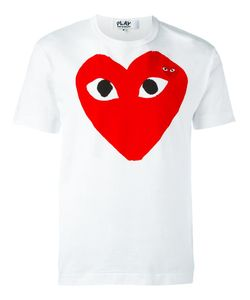 Comme des Gar ons Play   Comme Des Garçons Play Embroidered Heart Print T-Shirt Medium