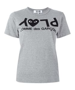 Comme des Gar ons Play | Comme Des Garçons Play Logo Print T-Shirt Womens Size Small