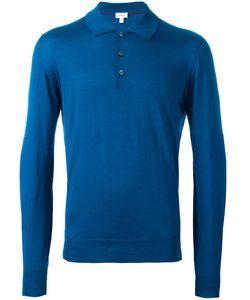 Brioni | Long Sleeve Polo Shirt 58 Wool/Cashmere/Silk