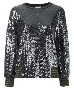 Nude | Sequin Embellished Top 44 Wool/Polyester/Polyamide/Cupro