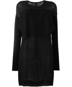 Ilaria Nistri | Scoop Neck Sheer Blouse 40 Silk/Modal/Lamb