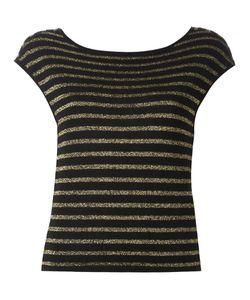 Saint Laurent | Striped Knitted Top Medium Viscose/Metallized Polyester/Virgin