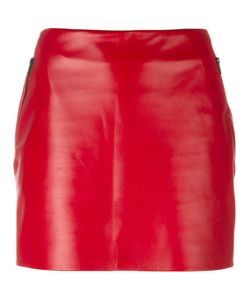 Barbara Bui | Mini Leather Skirt 38 Lamb Skin/Calf