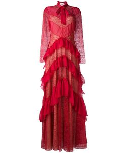 Zuhair Murad | Ruffled Lace Effect Dress 40 Silk/Polyamide/Polyester