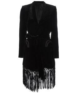 BLAZÉ MILANO | Blazé Milano Fringed Velvet Coat 38 Viscose/Silk/Cupro
