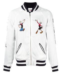 Joyrich | Popeye Olive Souvenir Jacket Large Rayon/Cotton