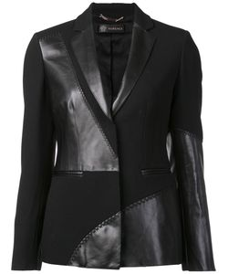 Versace | Mixed Material Blazer 42 Acetate/Viscose/Calf Leather