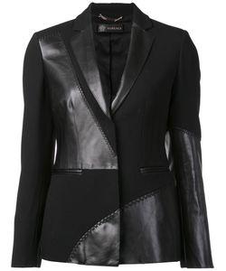 Versace | Mixed Material Blazer 42 Acetate/Viscose/Calf Leather