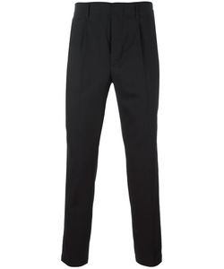 Dondup | Pleated Detailing Tapered Trousers 31 Virgin Wool/Spandex/Elastane/Cotton