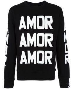 BOBBY ABLEY | Amor Print Sweatshirt Medium Cotton