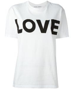 Katharine E Hamnett | Katharine Hamnett Love Print T-Shirt Medium Organic Cotton