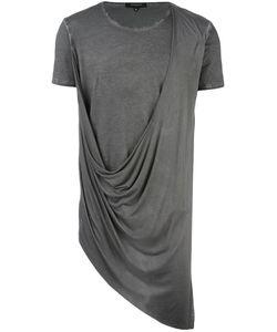 Unconditional   Asymmetric Drape T-Shirt Xl Rayon/Cotton