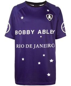 BOBBY ABLEY | Logo Print T-Shirt Large Polyester