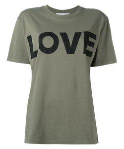 Katharine E Hamnett | Katharine Hamnett Love Print T-Shirt Small Organic Cotton