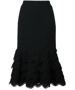 Jonathan Simkhai | Cable Arch Trim Skirt 2 Silk/Wool/Spandex/Elastane