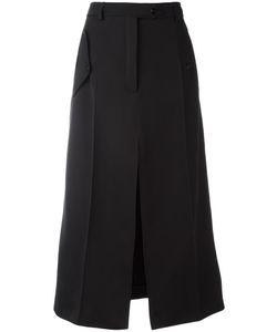 Nina Ricci | Front Slit A-Line Skirt 38 Wool/Silk/Polyurethane