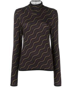 AALTO | Wavy Print Sweater 38 Viscose/Spandex/Elastane