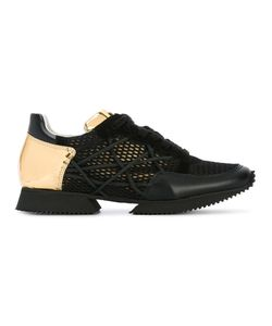 ALBERTO PREMI | Mesh Lace-Up Sneakers 41 Leather/Suede/Rubber