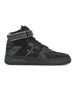 ALBERTO PREMI | Panelled Hi-Top Sneakers 43 Leather/Suede/Polyamide/Rubber