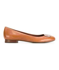 Lauren Ralph Lauren | Almond Toe Ballerinas 36 Leather/Rubber