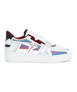 ALBERTO PREMI | Panelled Sneakers Adult Unisex 41 Leather/Calf Hair/Polyamide/Rubber