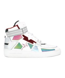 ALBERTO PREMI | Panelled Hi-Top Sneakers Adult Unisex 37 Leather/Nylon/Rubber