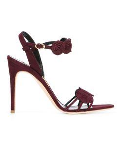 Rupert Sanderson   Rosetta Strappy Sandals 38 Suede/Leather