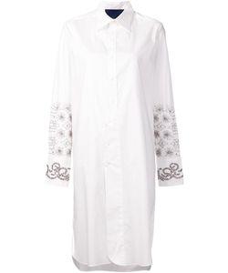 Sharon Wauchob | Asymmetric Embroidered Shirt Dress 40 Cotton
