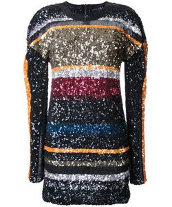 Michel Klein | Striped Sequined Dress 34 Polyester