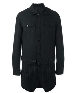 JUUN.J | Layered Shirt Jacket 46 Cotton/Polyester/Rayon/Polyurethane