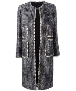 Giambattista Valli | Patch Pocket Open Coat Size 48 Cotton/Polyester/Silk/Viscose